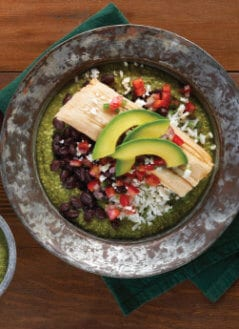 Avocado Green Mole Tamale Bowl
