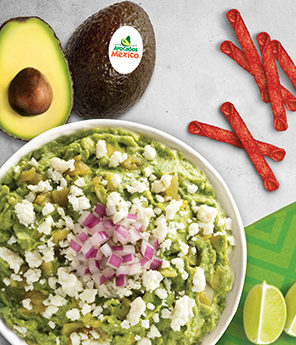 Guacamole with Lime and Queso Fresco
