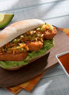 Buffalo Chicken & Avocado Blue Cheese Hoagie