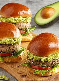 Spiced Turkey Burger Sliders with Avo-Feta Guac
