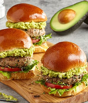 Spiced Turkey Burger Sliders with Avo-Feta Guac