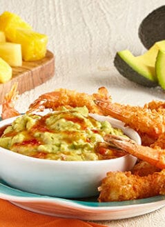 Coconut Shrimp with Thai Sweet Chili Guacamole