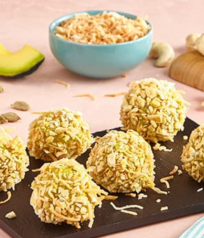No-Bake Avocado Coconut Bites