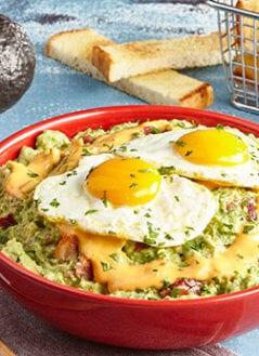 Bacon, Egg and Queso'mole