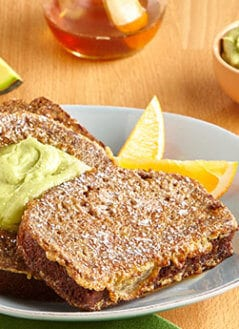 Avocado Banana Bread French Toast with Avocado Honey Butter