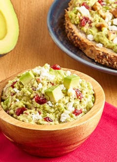 Goat Cheese & Cranberry Avocado Mash