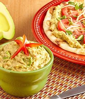 Roasted Red Pepper Avocado Hummus Mash