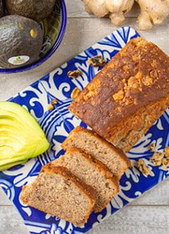 Gingerbread-Spiced Avocado Nut Bread