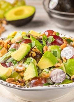 Avocado, Grape & Walnut Salad