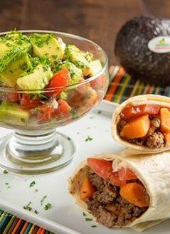 Sweet Potato and Turkey Burrito with Avocado Pico de Gallo