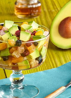 Avocados with Dried Fruits