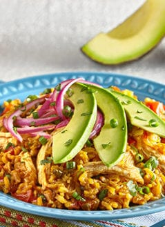 Arroz con Pollo with Avocado