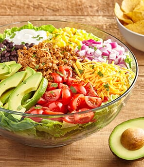 Avocado Layered Taco Salad