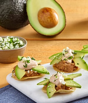 Avocado Tostaditas with Chipotle Crema Sauce