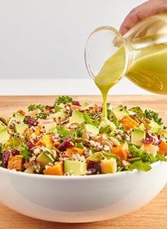 Harvest Bowl Salad with Balsamic Vinaigrette