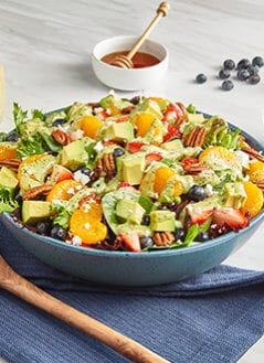 Mixed Greens Salad With Avo Poppyseed Dressing