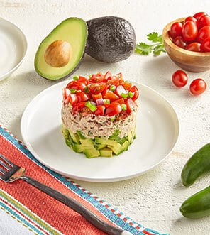 Avocado & Tuna Tomato Salad Stack