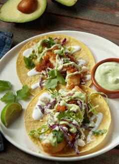 Avocado Chimichurri Fish Taco