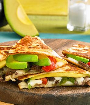 Authentic Avocado Fajita Quesadilla