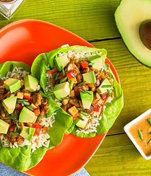 Avocado Turkey Lettuce Cups