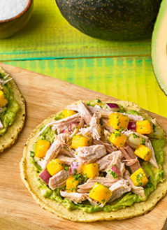 PULLED PORK AND AVOCADO MASH TOSTADA