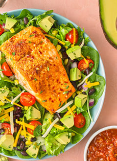 Southwestern Avocado Salmon Salad