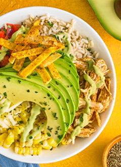 Avocado Southwest Chicken Bowl