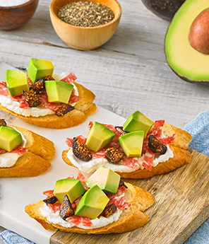 Sweet Avocado Fig Crostinis