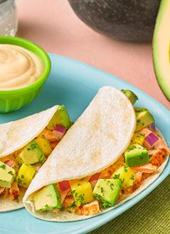 Sweet Avocado Salmon Tacos