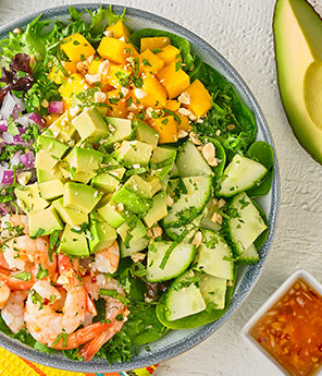Thai Avocado Shrimp Bowl